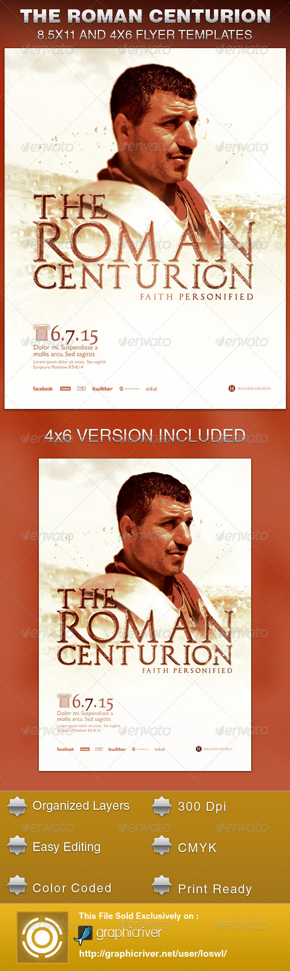 The Roman Centurion Church Flyer Template - Church Flyers