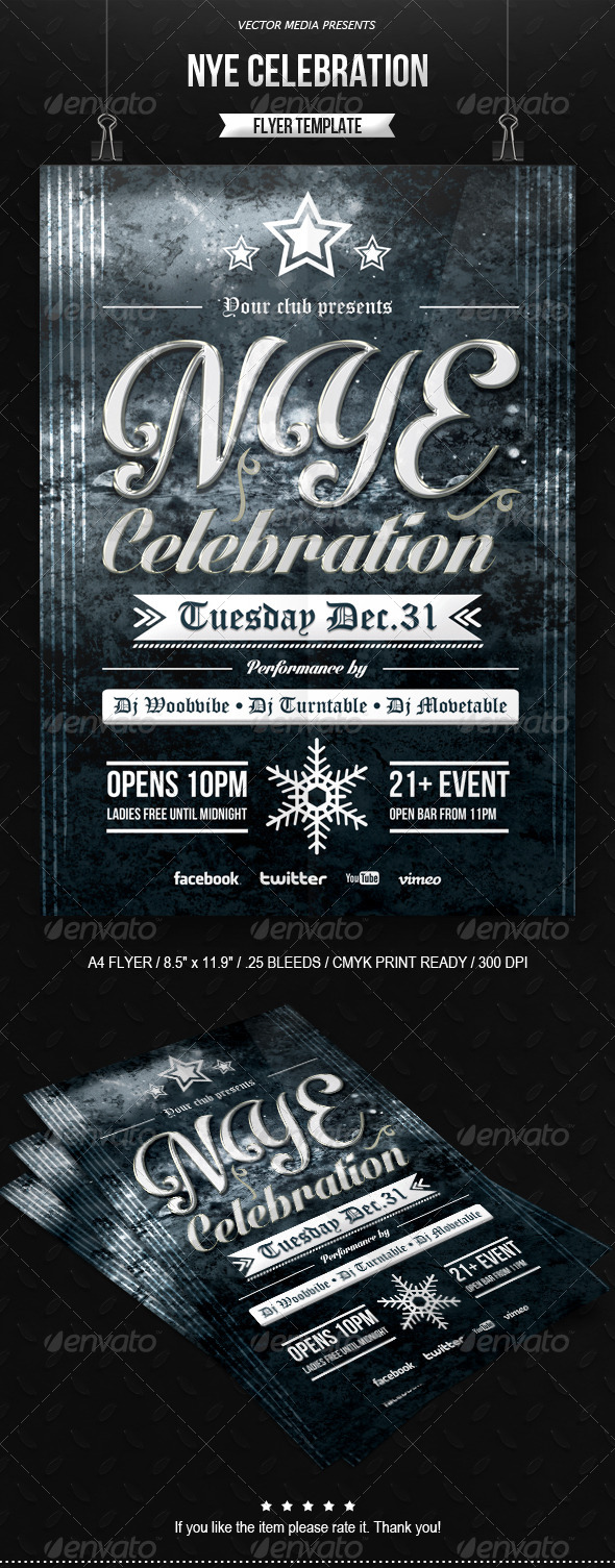 NYE Celebration - Flyer - Clubs & Parties Events