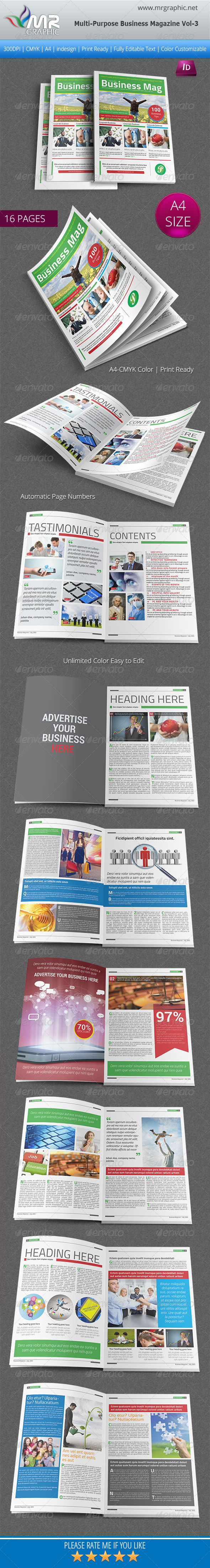 Multipurpose Business Magazine Vol 3 - Magazines Print Templates