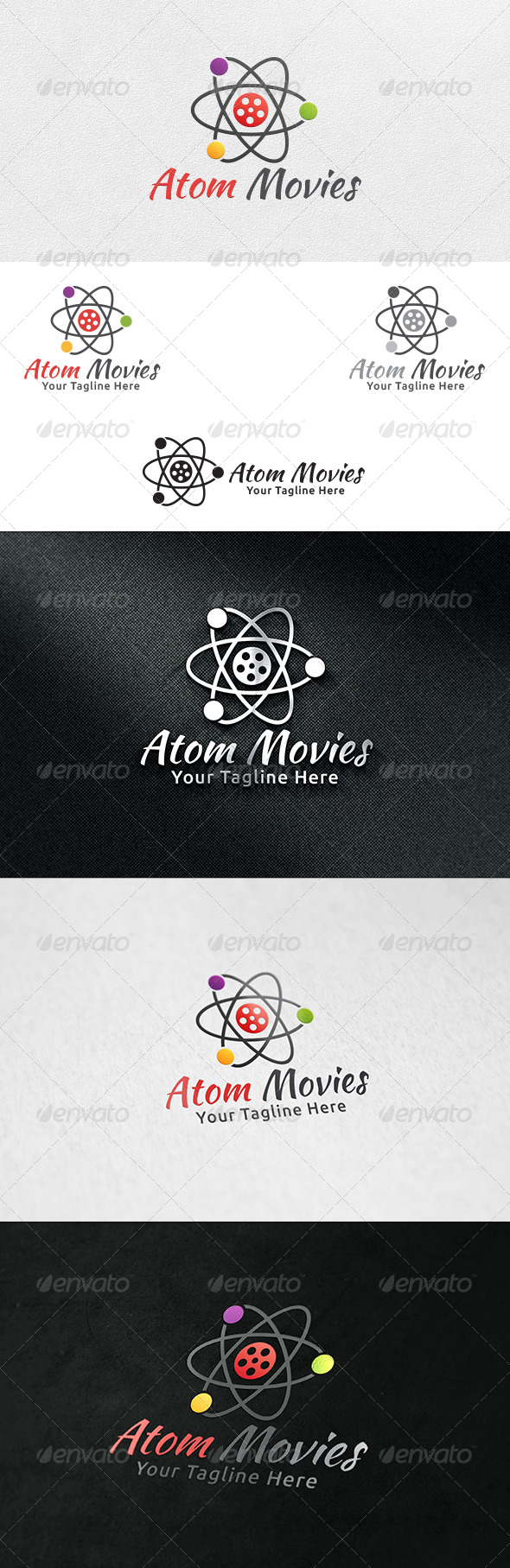 Atom Movies - Logo Template - Symbols Logo Templates