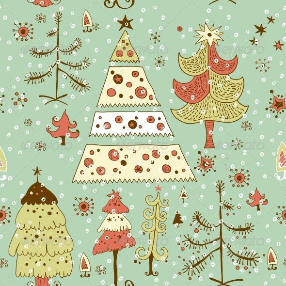 Christmas Card - Patterns Decorative