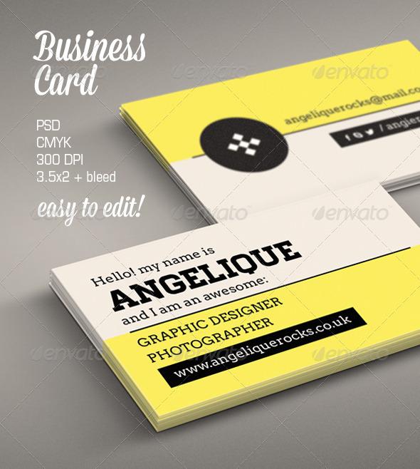 Modern Business Card - Retro/Vintage Business Cards