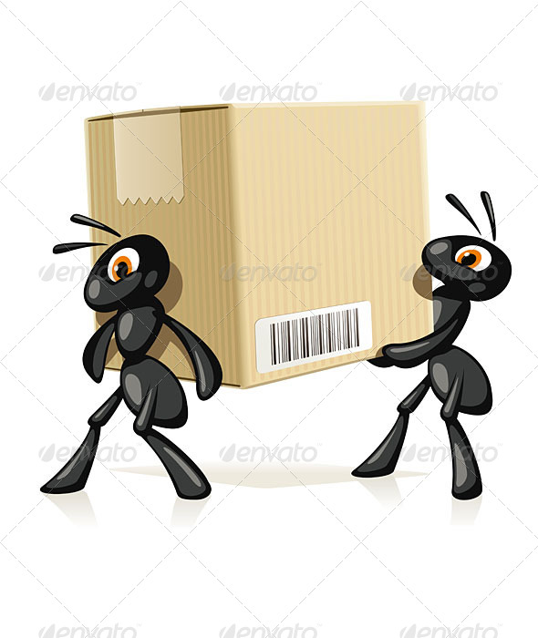 Ants Delivery - Animals Characters