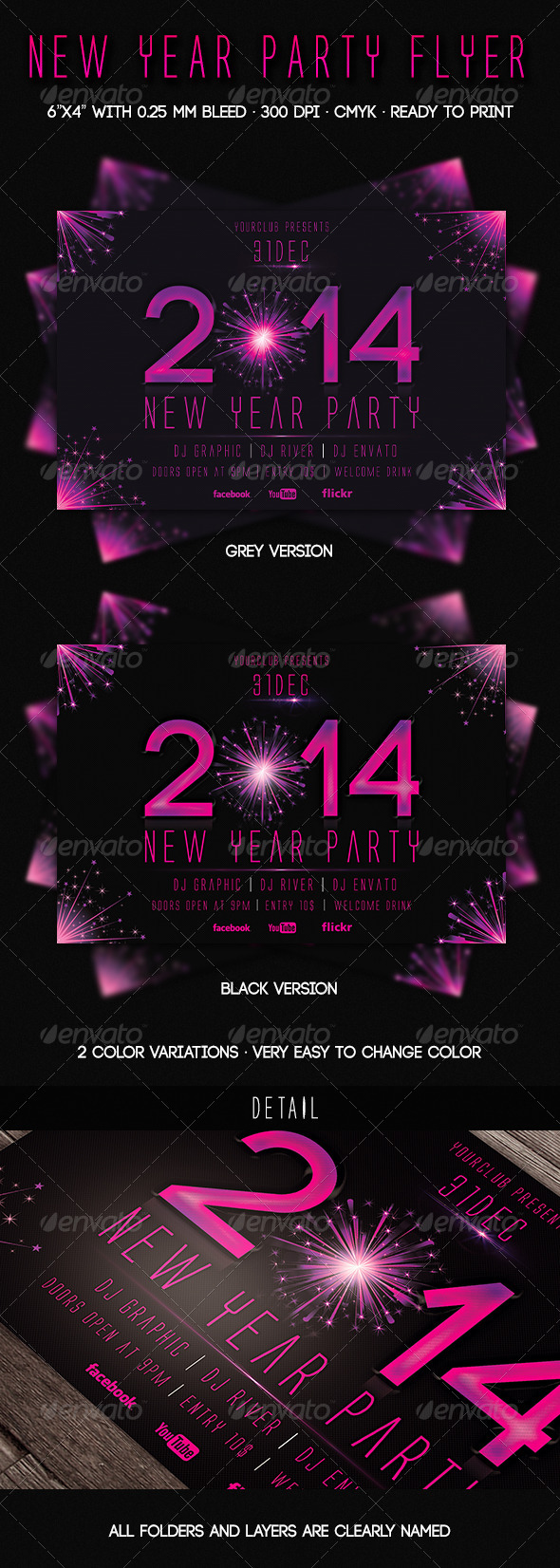 2014 New Year Party Flyer - Events Flyers