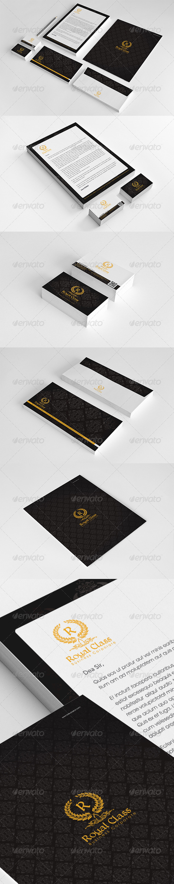 Royal Class Corporate Identity Package v2 - Stationery Print Templates