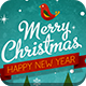 Vintage Christmas Typography Cards - GraphicRiver Item for Sale
