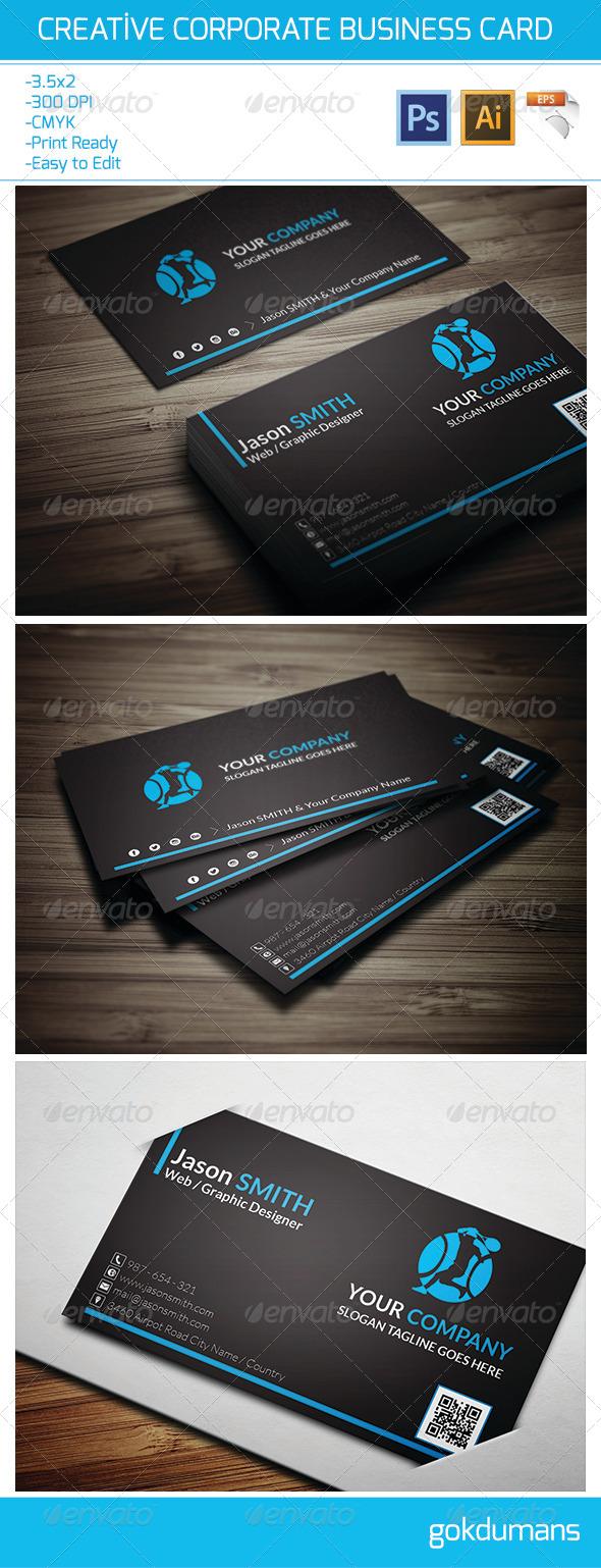Creative Corporate Business Card 19 - Corporate Business Cards