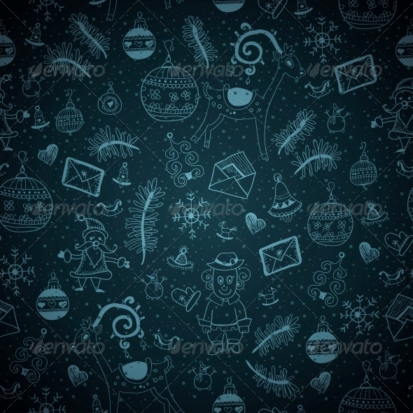 Blue Christmas Seamless - Patterns Decorative