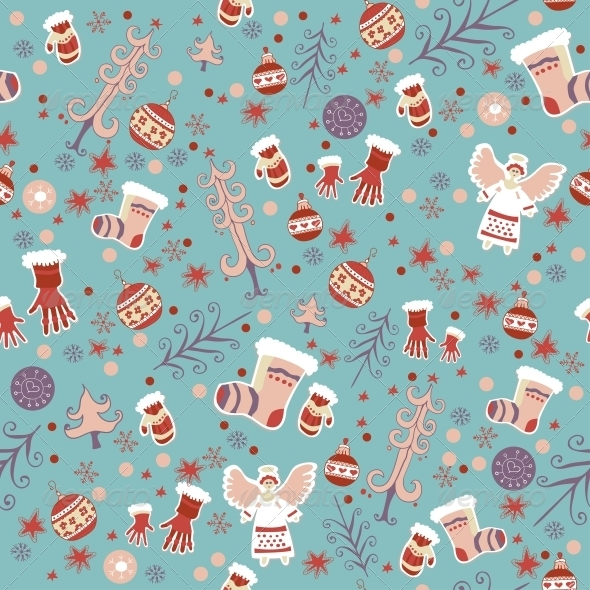 Winter Seamless Pattern - Patterns Decorative