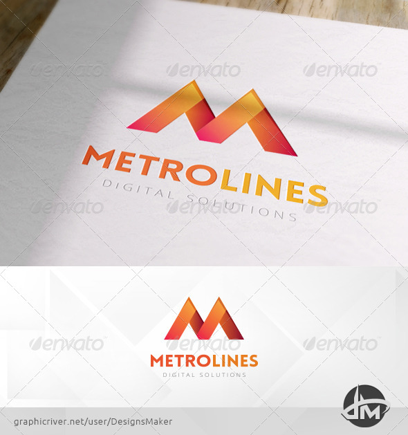 Metro Lines Logo Template - Letters Logo Templates