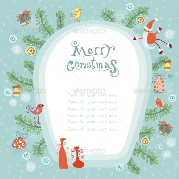 Christmas Background with Place for your Text - Backgrounds Decorative