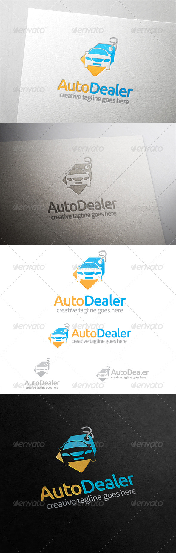Auto Dealer Car Tag Logo - Objects Logo Templates