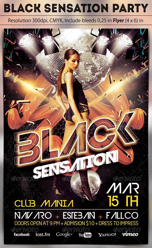 Black Sensation Party - Clubs & Parties Events