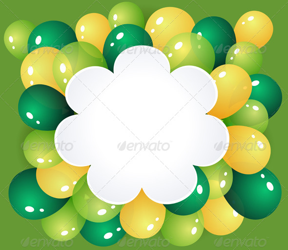 Flower Frame with Balloons - Seasons/Holidays Conceptual