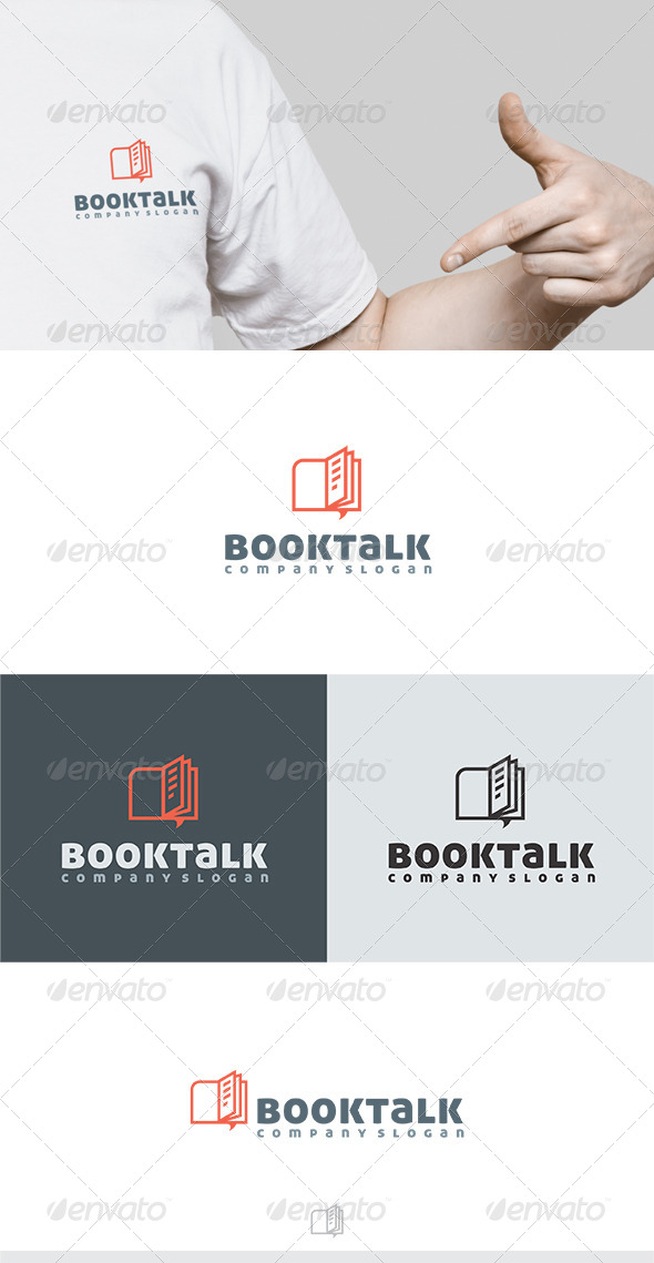 Booktalk Logo - Symbols Logo Templates