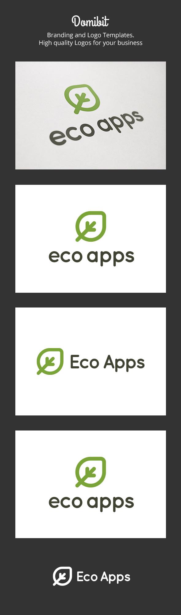 Eco Apps Logo - Nature Logo Templates