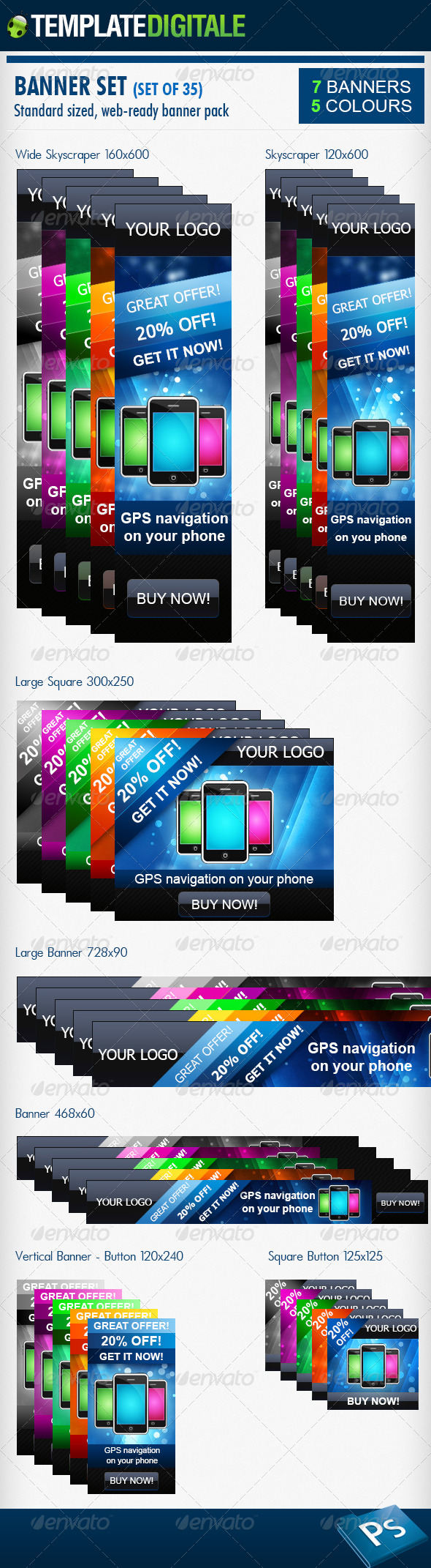 35 - Web Banner Pack - Banners & Ads Web Elements
