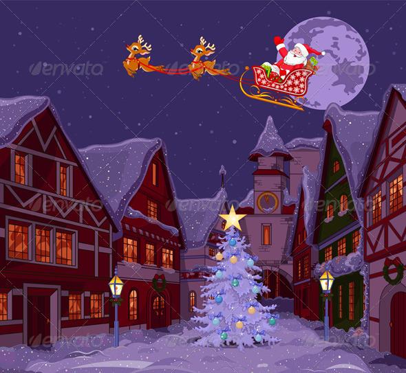 Santa's Sled - Christmas Seasons/Holidays