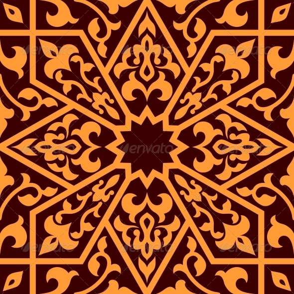 Arabian Eastern Seamless Ornament - Patterns Decorative