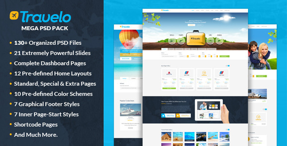 Travelo – Mega PSD Pack