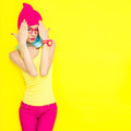 Portrait of bright stylish girls - PhotoDune Item for Sale