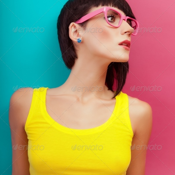 Summer funny girl - Stock Photo - Images