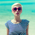 fashion portrait of a girl on a background of the sea - PhotoDune Item for Sale