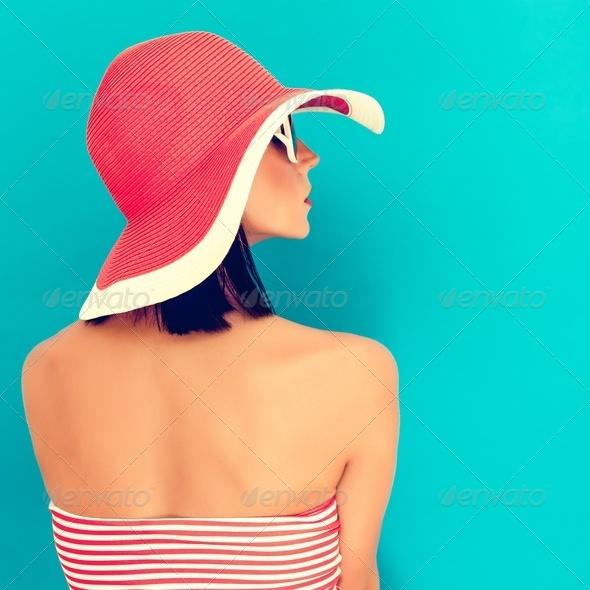 sensual girl summer - Stock Photo - Images