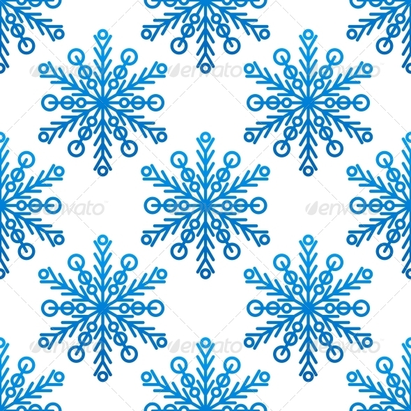 Snowflake Seamless Pattern - Patterns Decorative