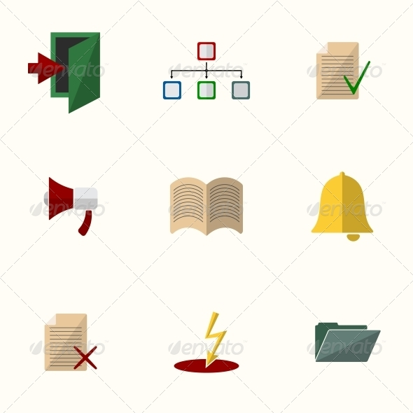 Universal Flat Icons - Web Elements Vectors