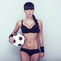 Sports sensual girl with ball - PhotoDune Item for Sale
