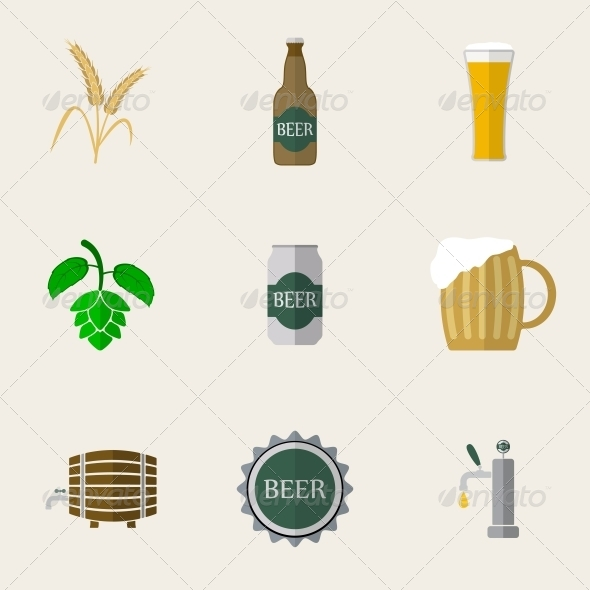 Beer Flat Icons - Food Objects