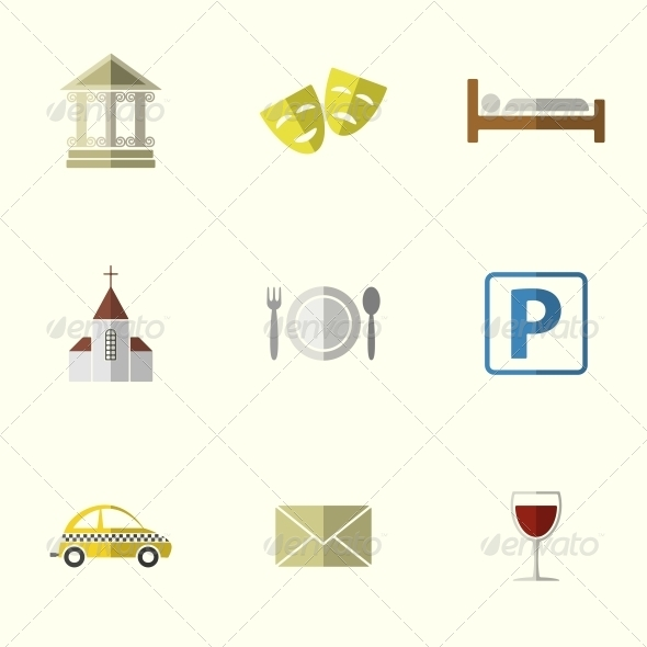 Travel Flat Icons - Travel Conceptual