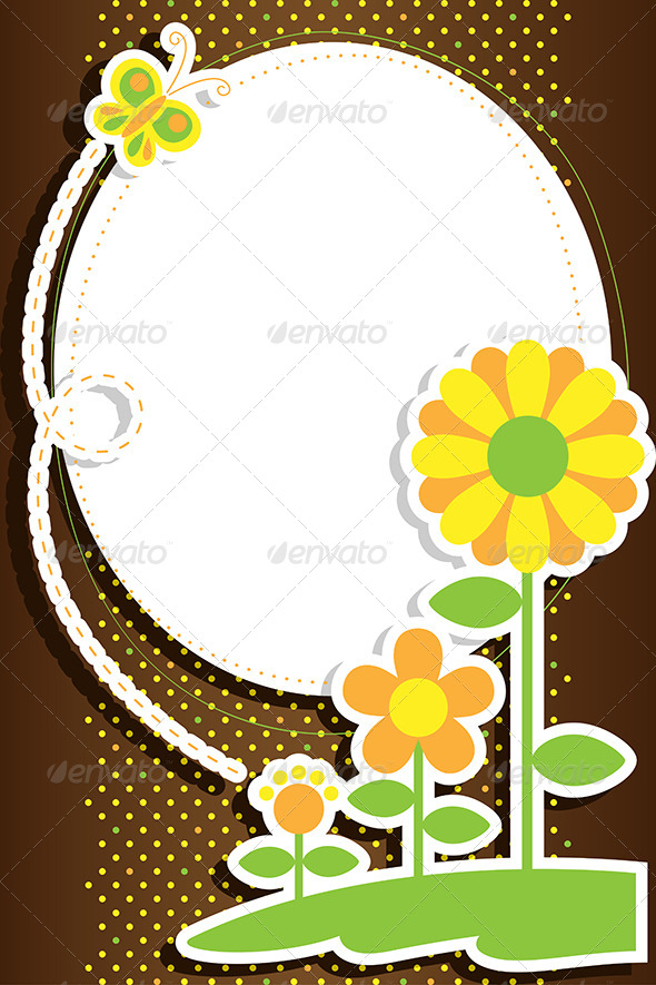 Flowers Background - Decorative Vectors