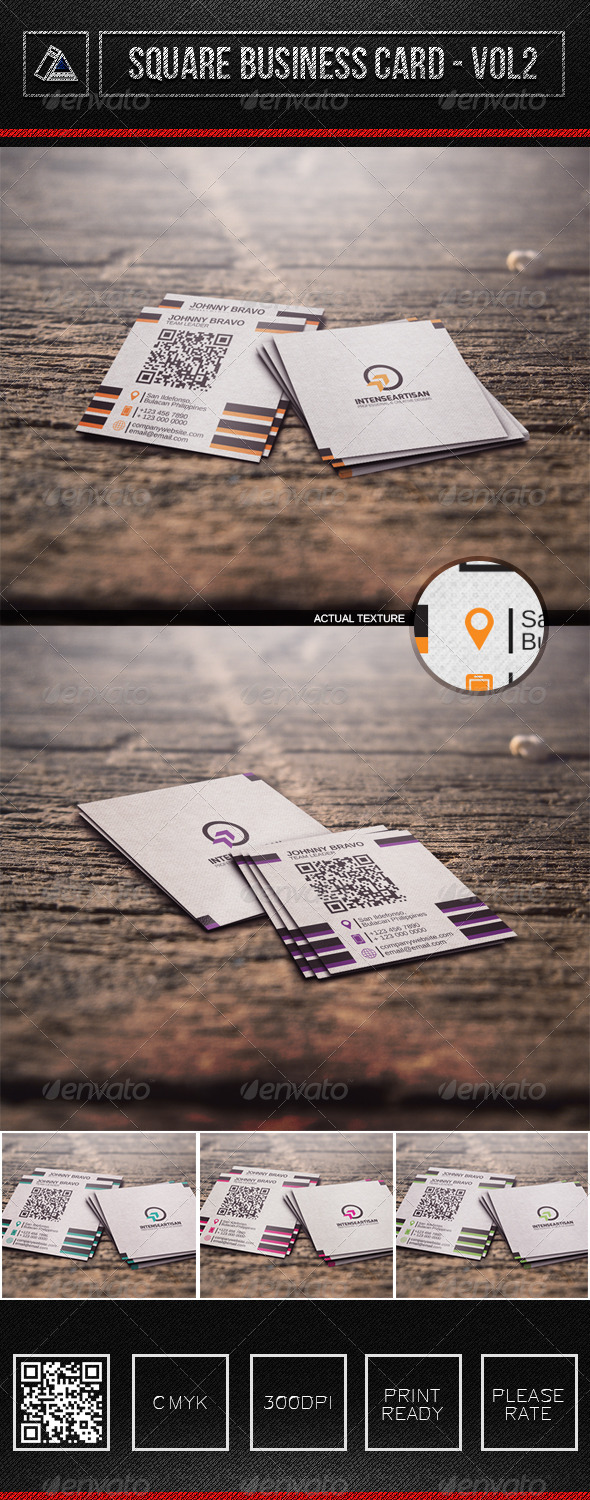 Square Business Card Vol2 - Corporate Business Cards