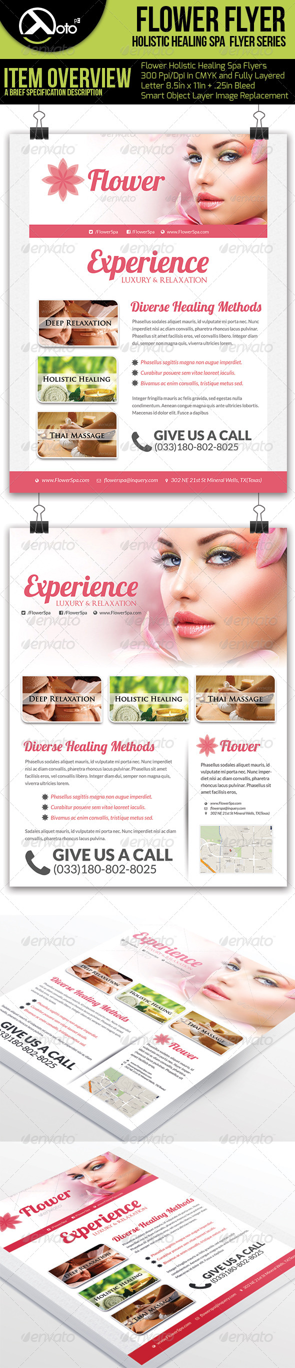 Holistic Healing Spa Flyers - Flyers Print Templates