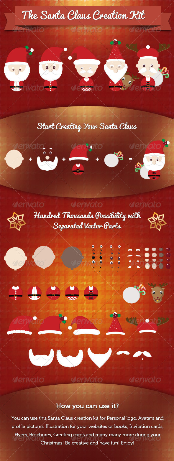 Santa Claus Creation Kit - People Characters