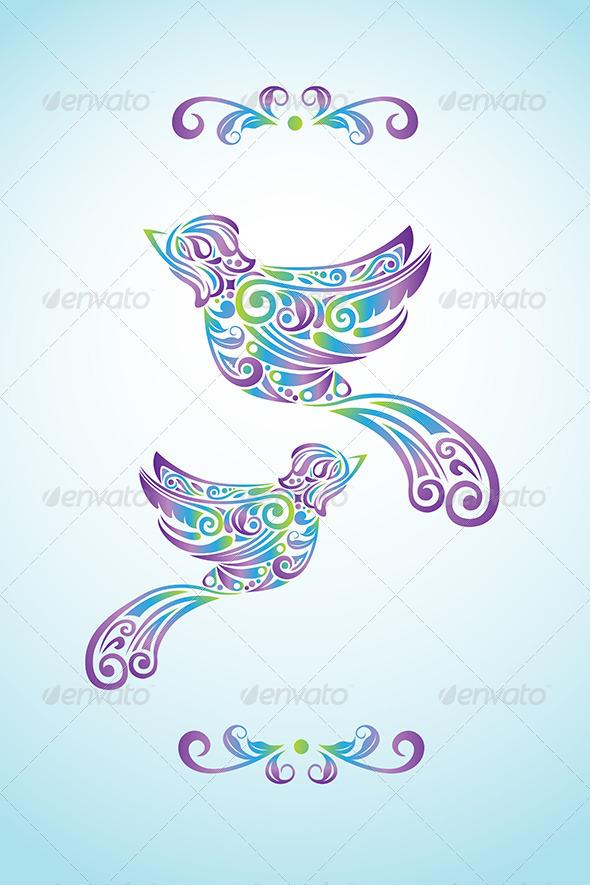 Bird Abstract Design - Decorative Vectors