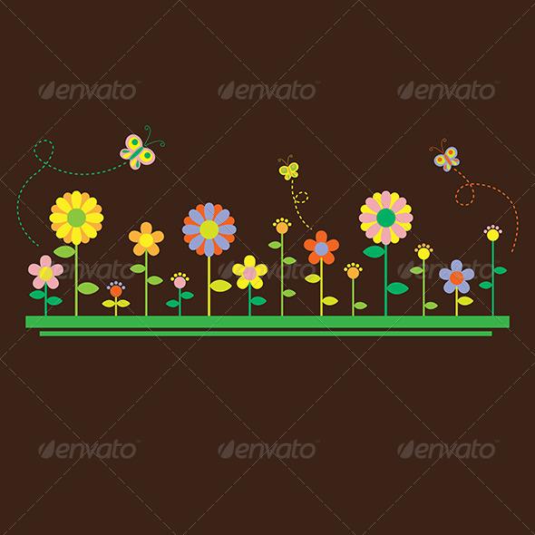 Flowers Background - Backgrounds Decorative