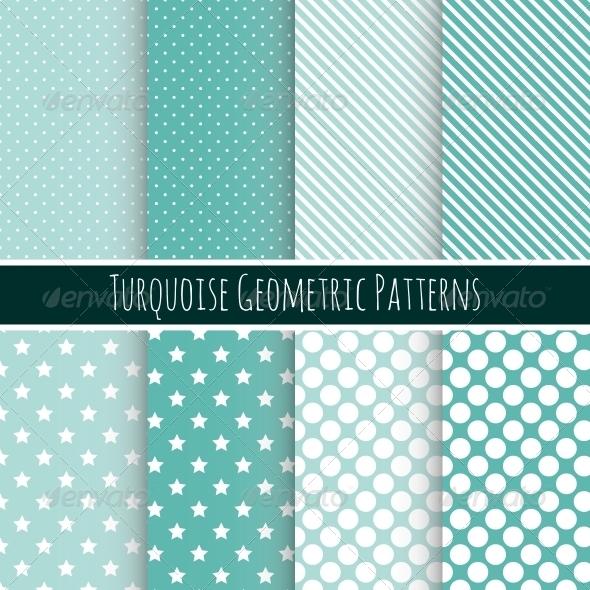 Set of 8 Seamless Geometric Patterns - Patterns Decorative
