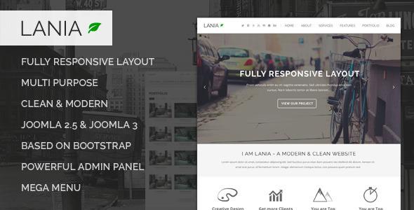 Lania – Responsive Joomla Template