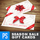 Season Sales Gift Card / Loyalty Card - GraphicRiver Item for Sale