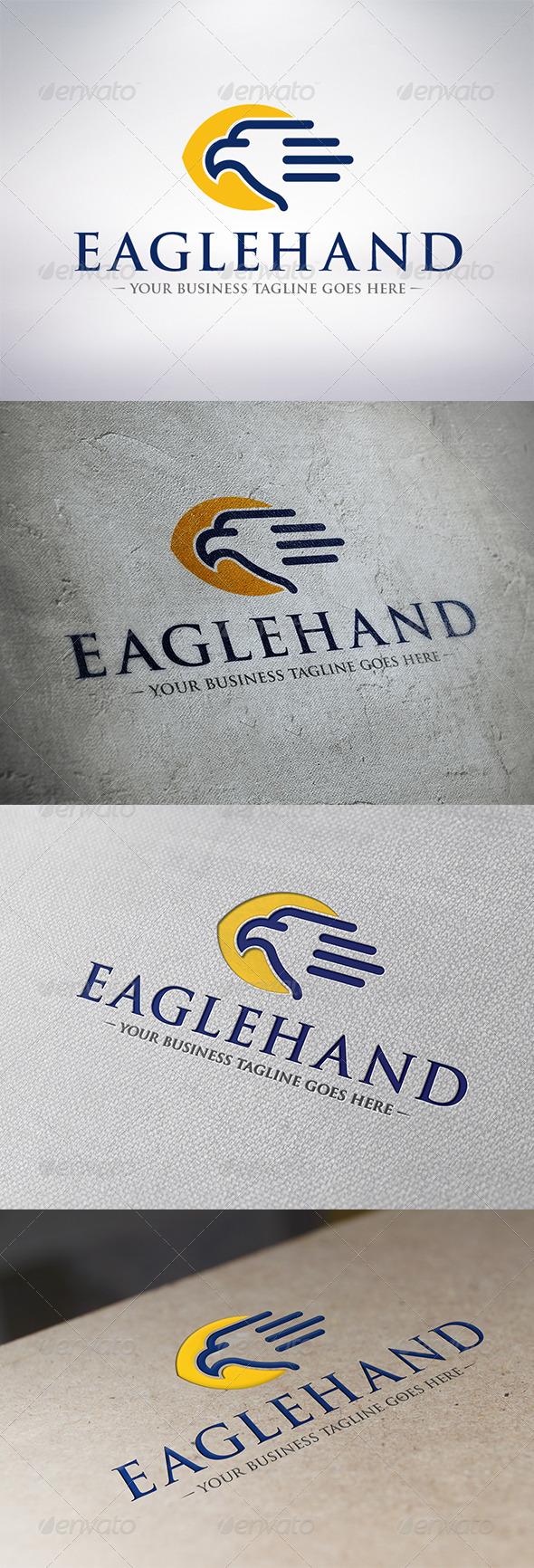 Eagle Hand Logo Template - Animals Logo Templates