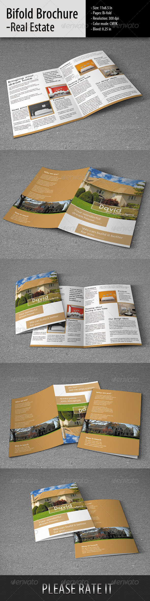 Bifold Brochure for Real Estate - Corporate Brochures