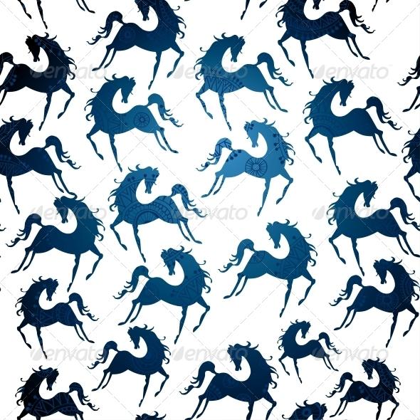 Symbol of 2014 Horse Pattern - Patterns Decorative