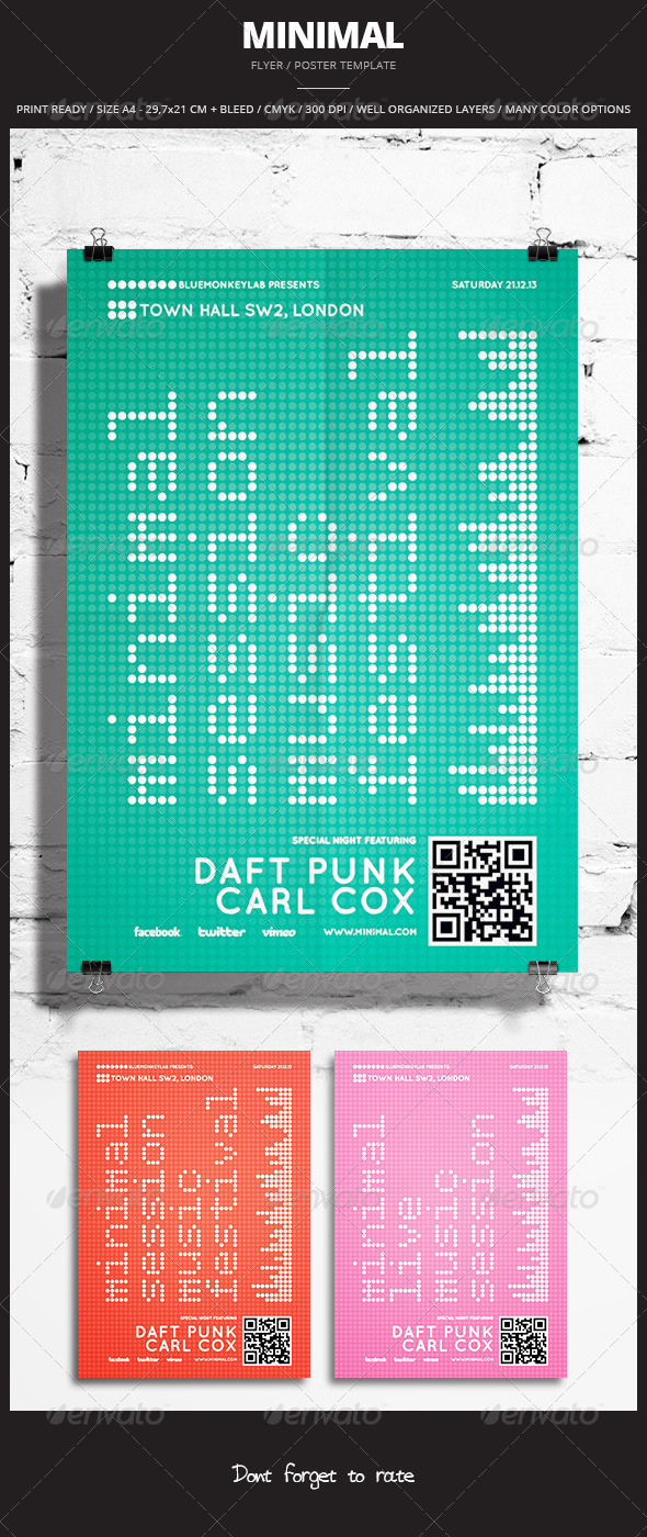 Minimal Flyer / Poster 4 - Events Flyers