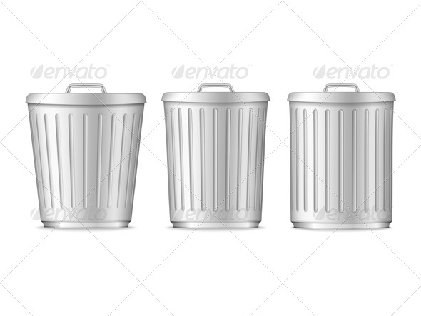 Trash Cans - Objects Vectors