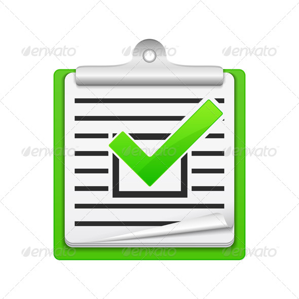 Check List Icon - Business Conceptual