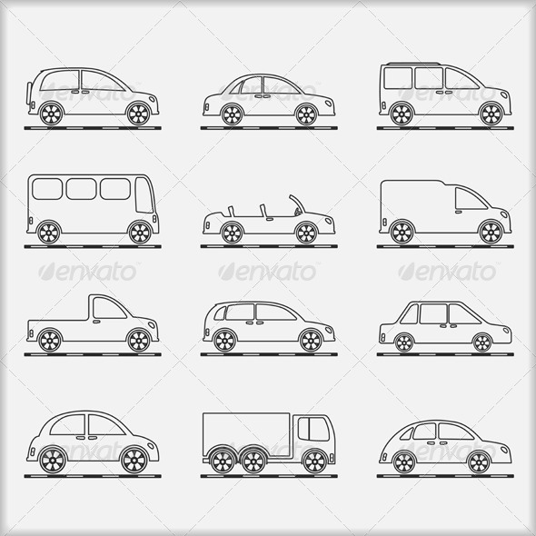 Cars Icons - Web Elements Vectors