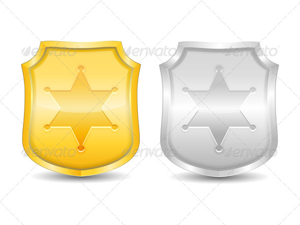 Police Badges - Objects Vectors
